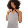 Z Supply Reverie Knot Triblend Dress Heather Grey front view