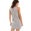 Z Supply Lex Heather Grey Triblend Mini Dress back view