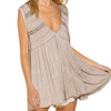 Taupe Flowy Boho Tank Top close up view
