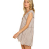 Taupe Flowy Boho Tank Top side view