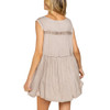Taupe Flowy Boho Tank Top back view