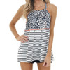 Multiprint Leopard and Striped Tank Top