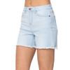Judy Blue High Waist Bleach Light Cut Off Shorts front view