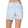 Judy Blue High Waist Bleach Light Cut Off Shorts back view