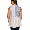 Vocal Apparel USA Flag Taupe Knit Top back view