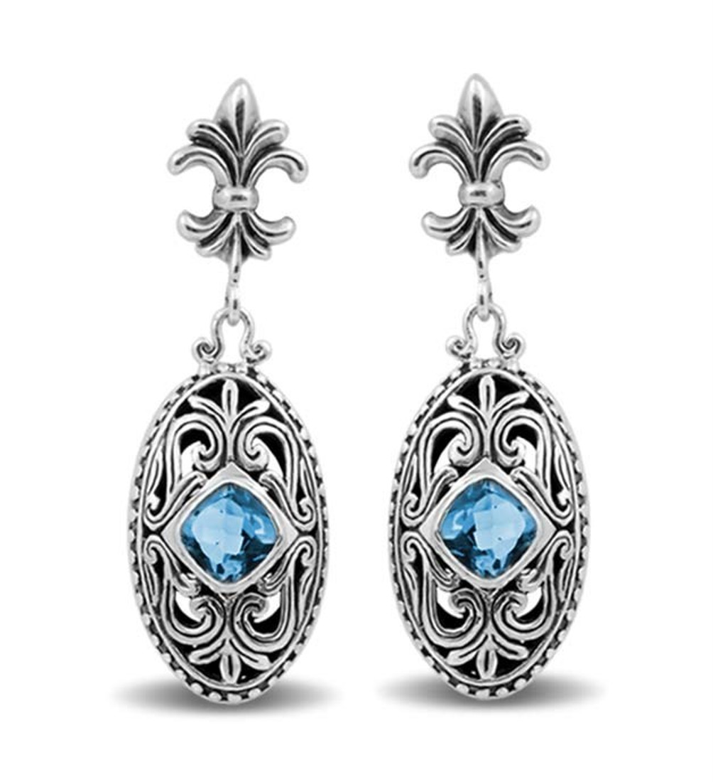 Blue Topaz sterling silver earrings.