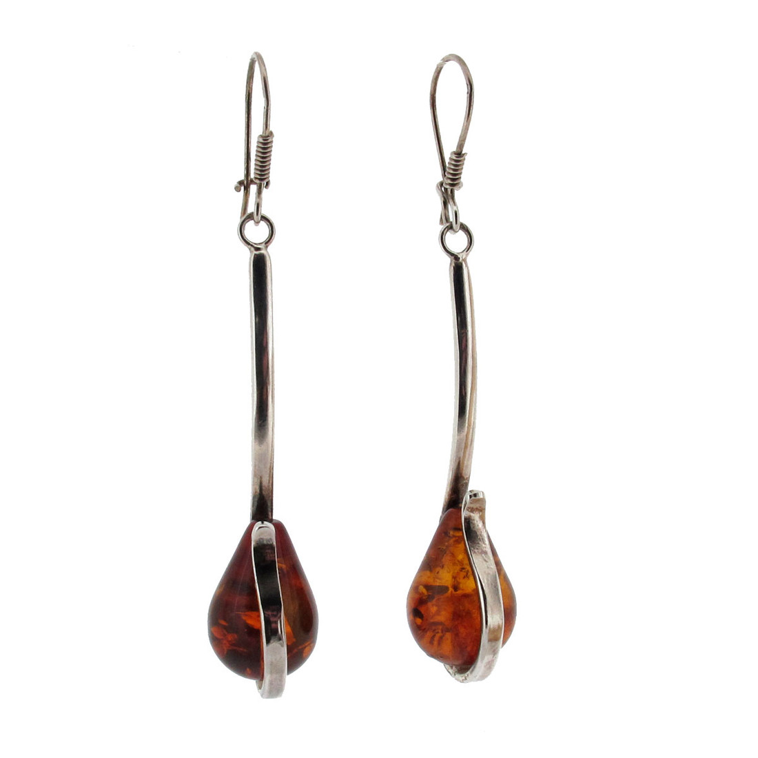 Amber dangle earrings.