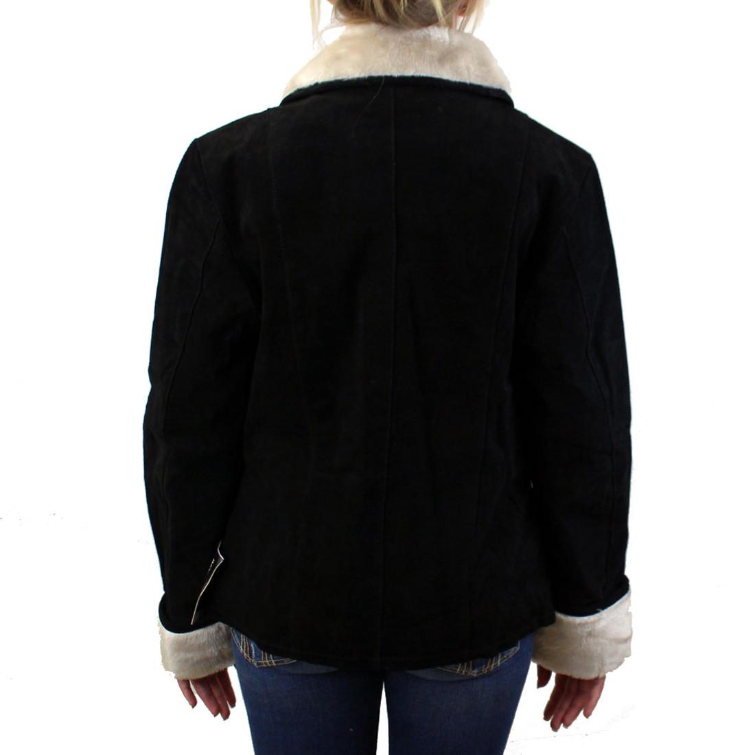 Backside suede jacket.