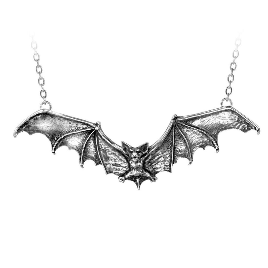 Alchemy Gothic Bat Necklace P121
