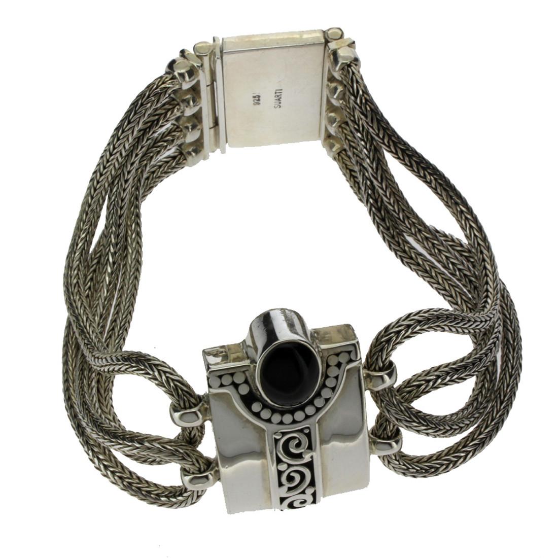 Bali Onyx sterling silver bracelet.