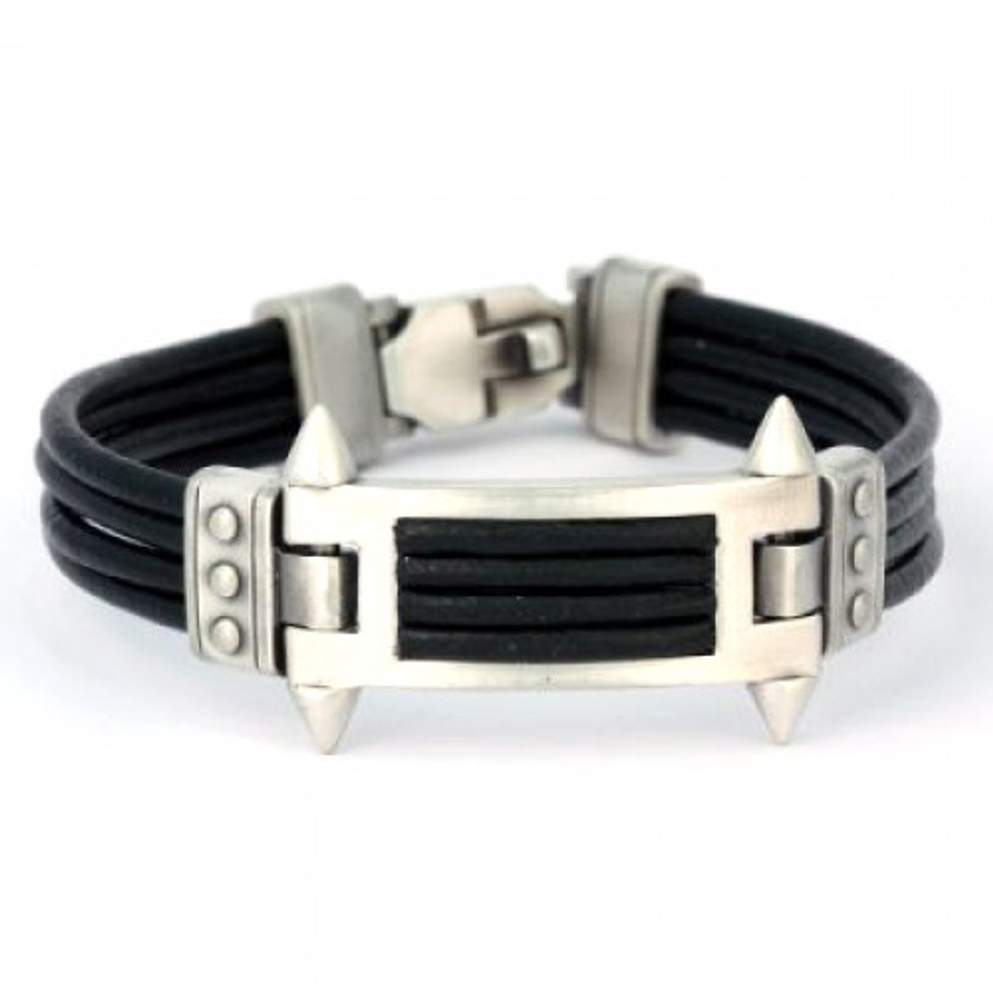Bico leather pewter bracelet.