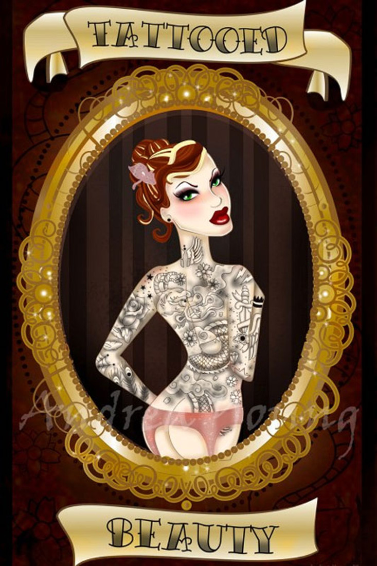 Andrea Young - Tattooed Beauty - Fine Art Print