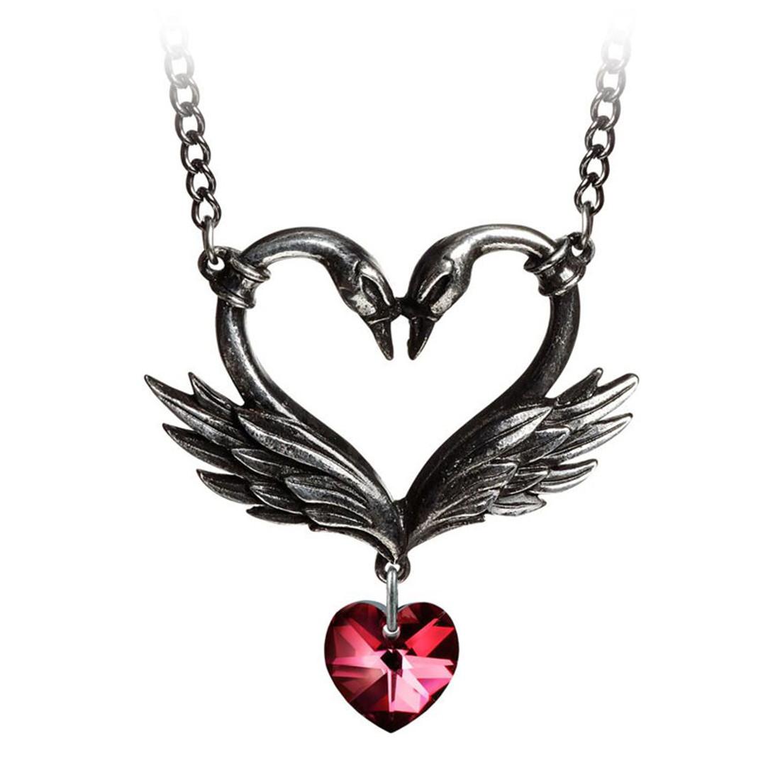 Alchemy Gothic - P773 - The Black Swan Romance Necklace