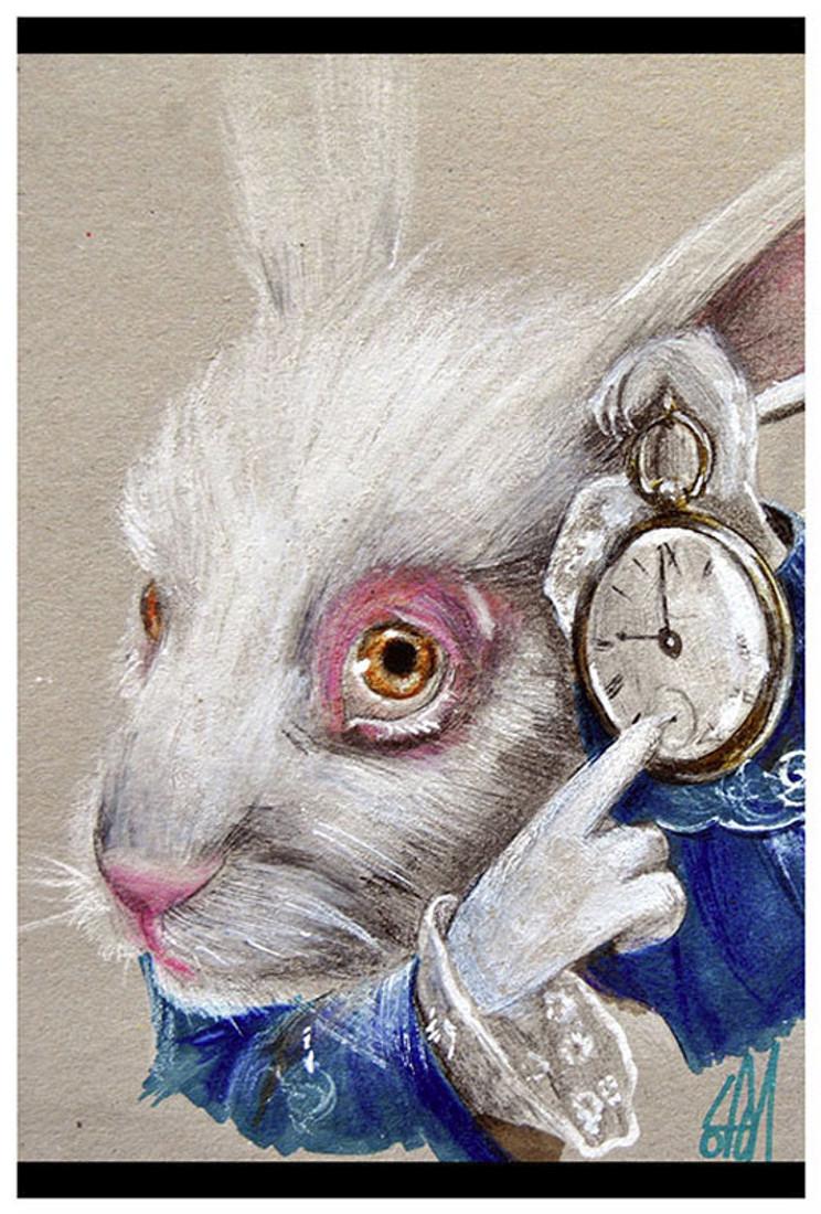 White Rabbit Time by Manuela Lai Fine Art Print Alice in Wonderland