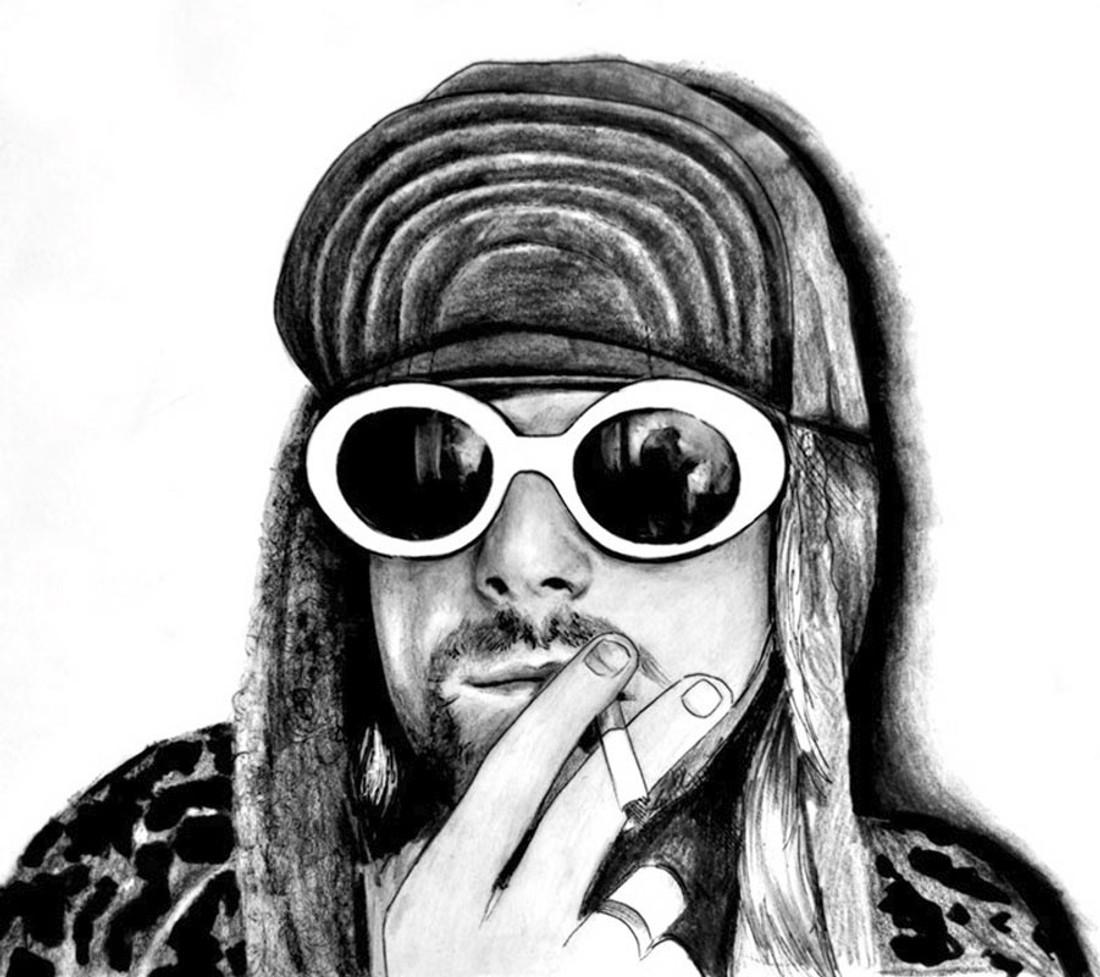 Kurt Cobain by Manuela Lai Canvas Giclee Art Print Nirvana Lead Singer