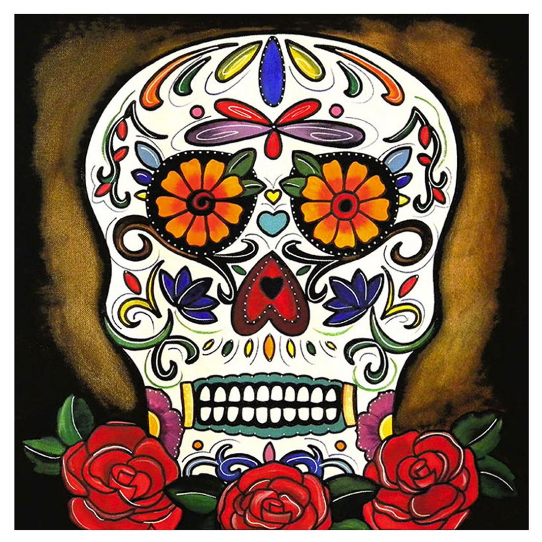 Melody Smith Sugar Skull Canvas Art Print