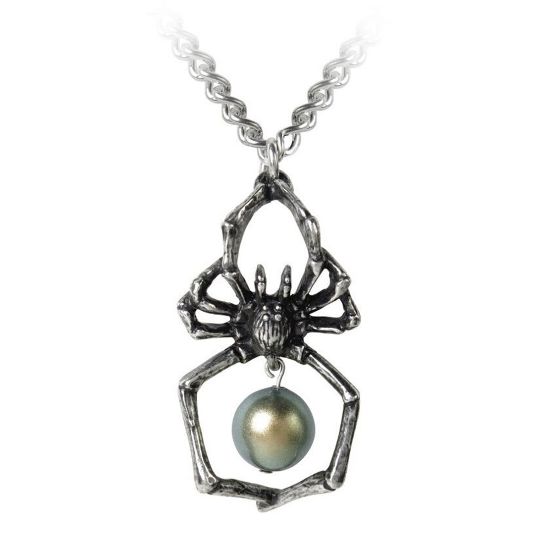 Alchemy Gothic Glistercreep Spider Pendant Necklace Pewter Jewelry P790