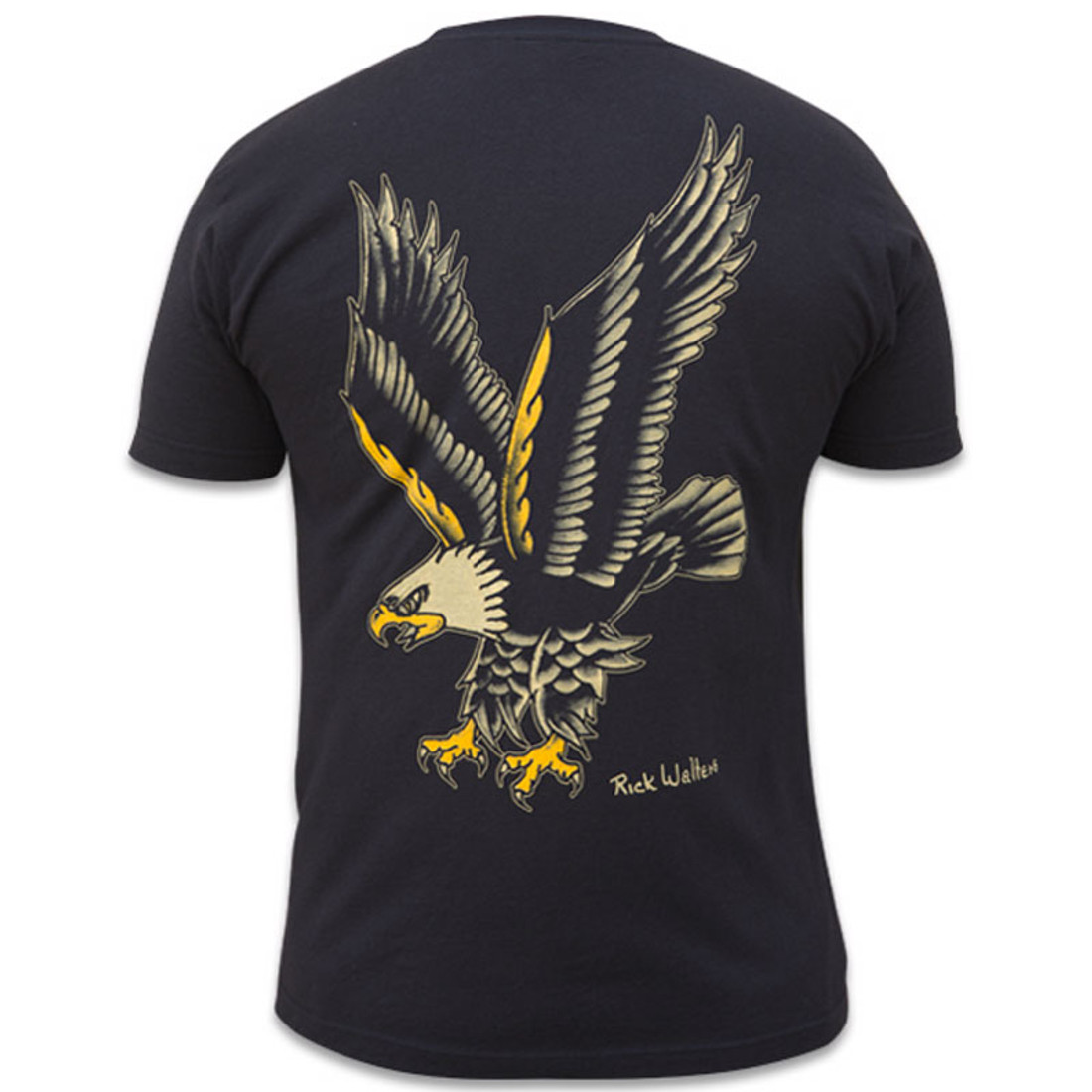 Eagle by Rick Walters Men's Black Tattoo Tee Shirt