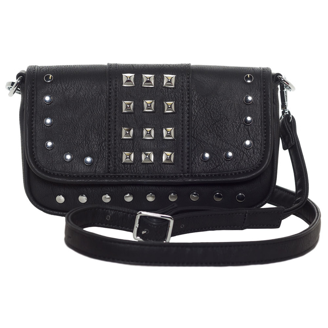 Sourpuss Black Purse Aime Clutch Crossbody Shoulder Bag