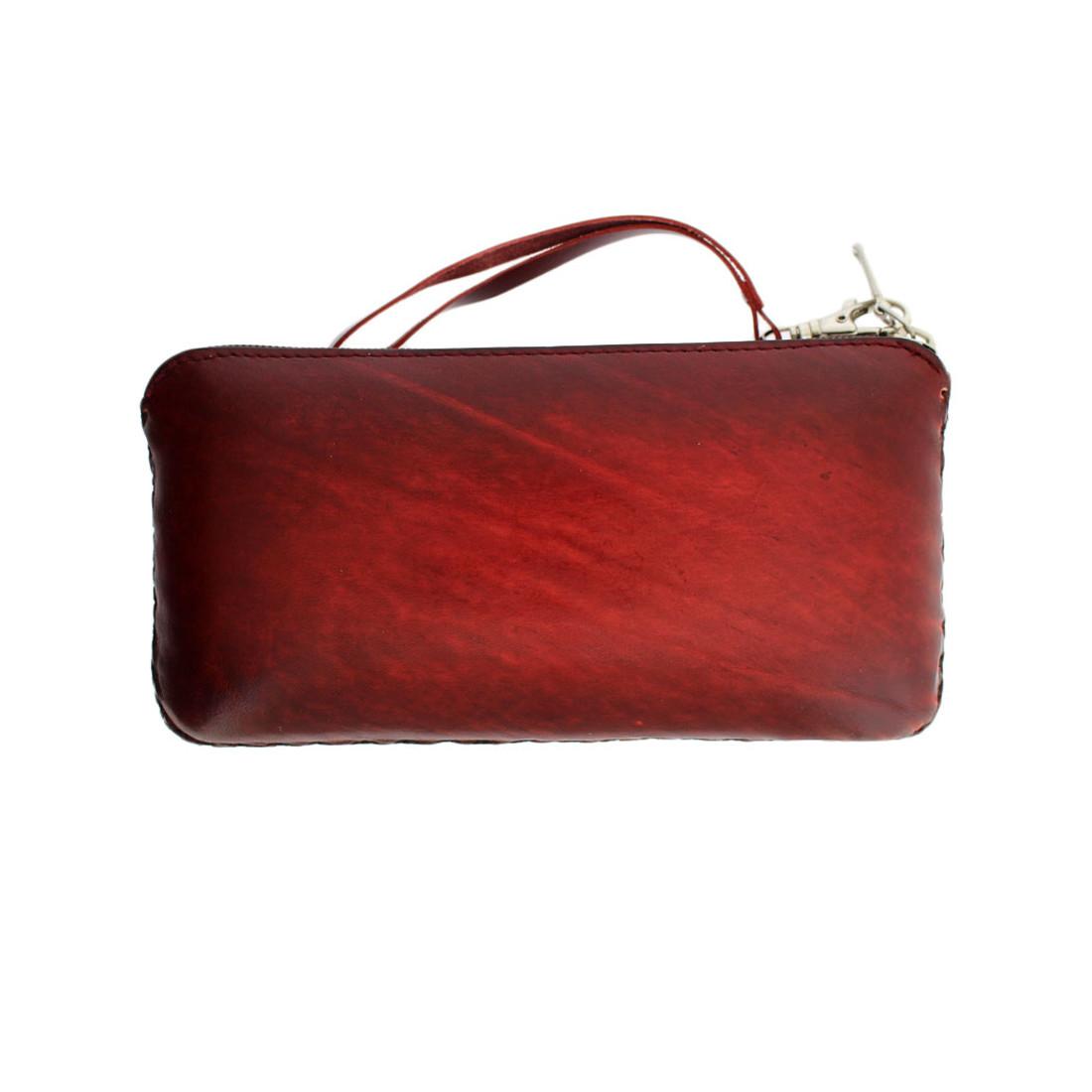 Butterfly Flower Leather Wallet Clutch or Wristlet