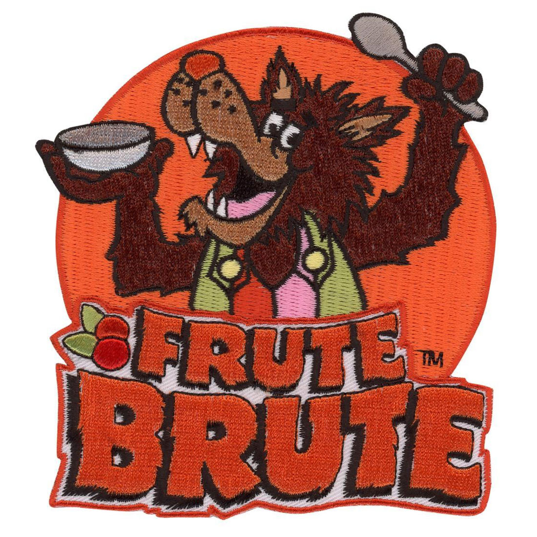 eab78d7662ed8 General Mills Frute Brute Wolf Cereal Monster Patch Embroidered Iron On  Applique