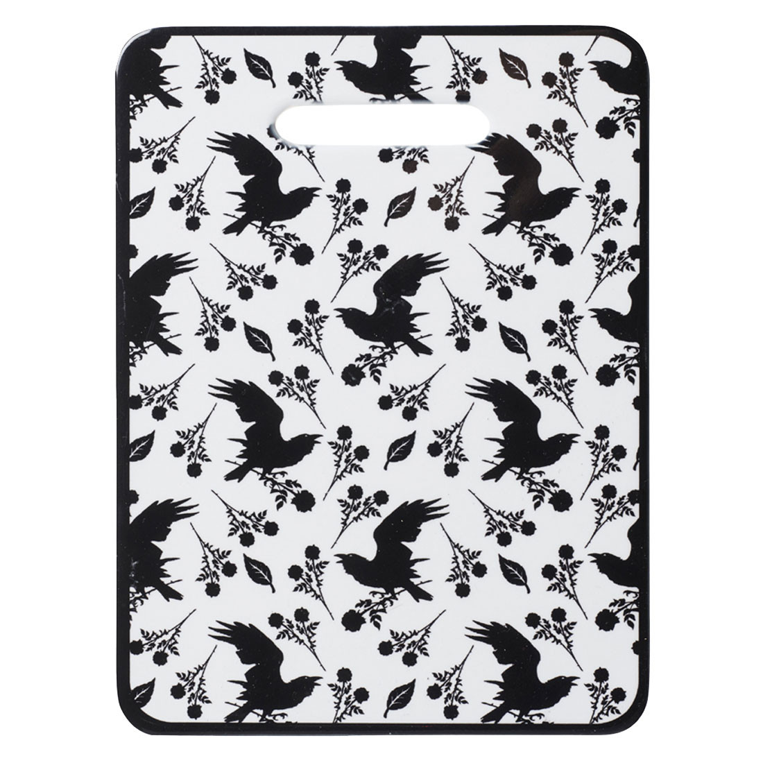 Alchemy Gothic Raven and Rose Small Cutting Board Serving Trivet Home Decor
