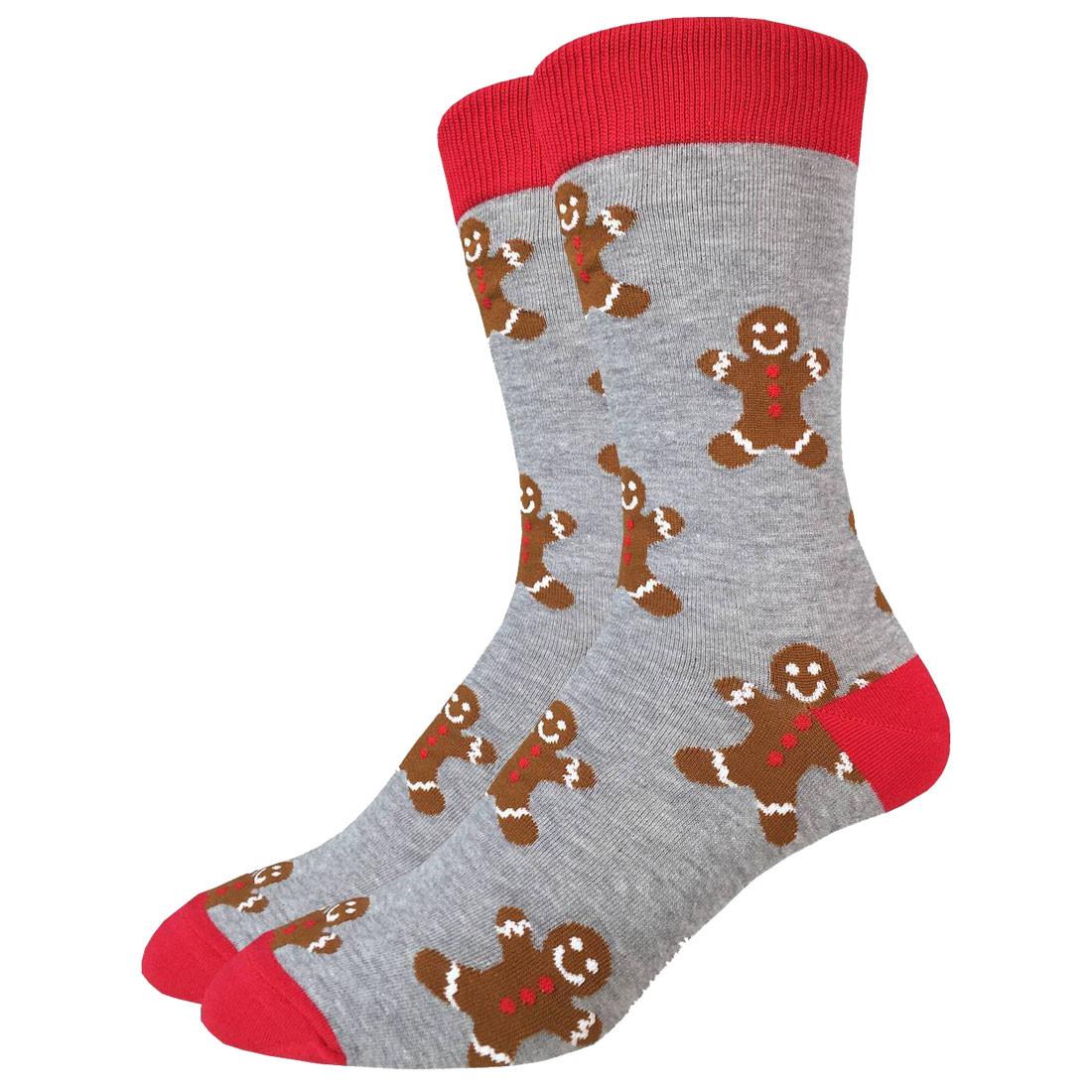Men's Crew Socks Christmas Holiday Gingerbread Men