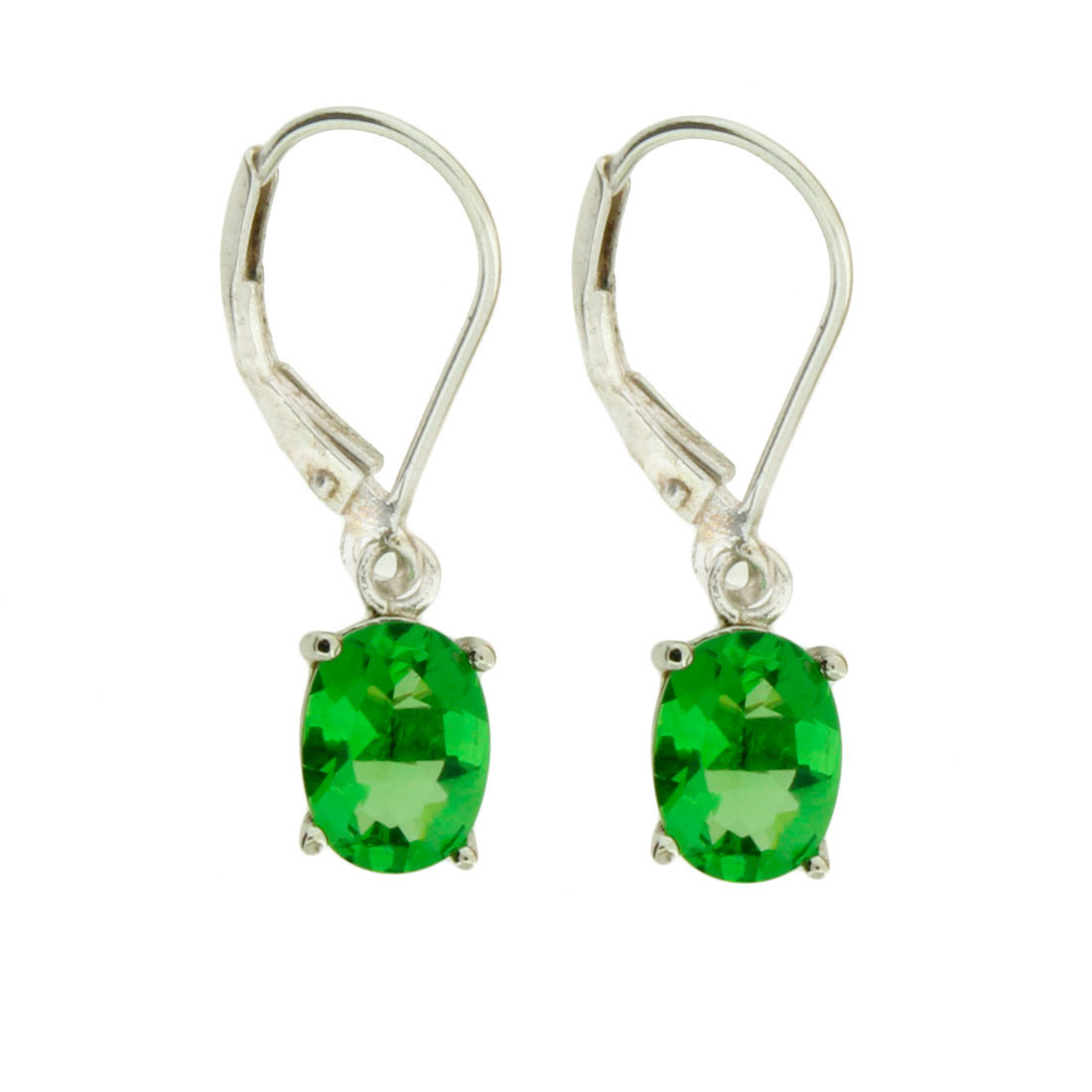 Green Helenite Sterling Silver Earrings