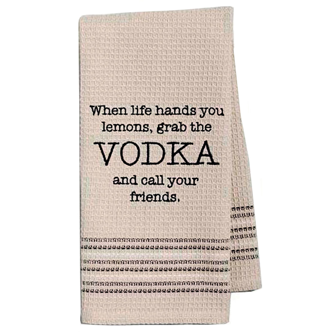 Funny Novelty Cotton Kitchen Dishtowel Grab The Vodka