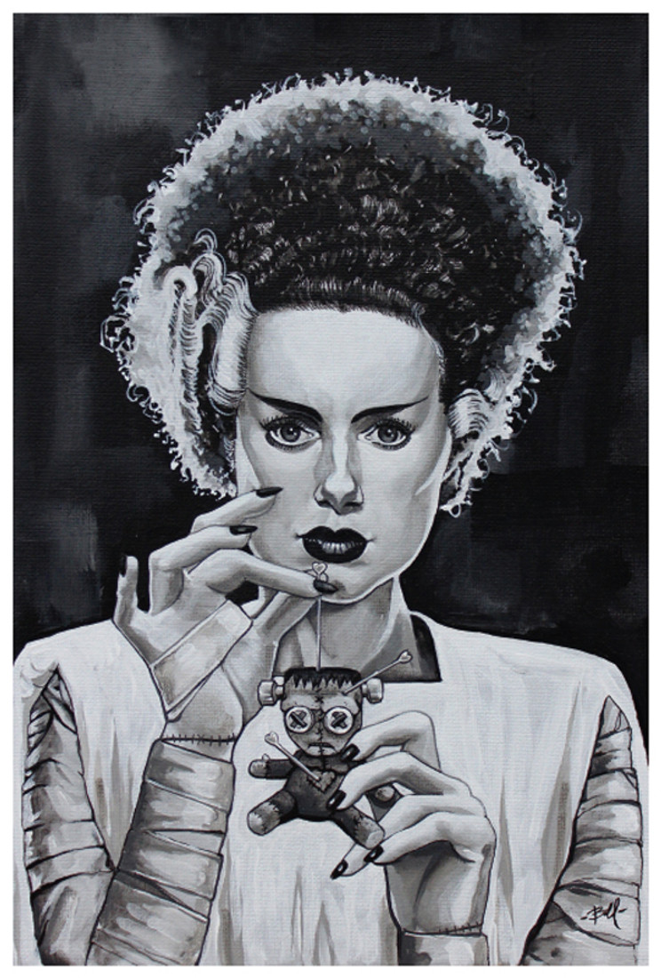 Love Hurts by Mike Bell Fine Art Print Bride of Frankenstein
