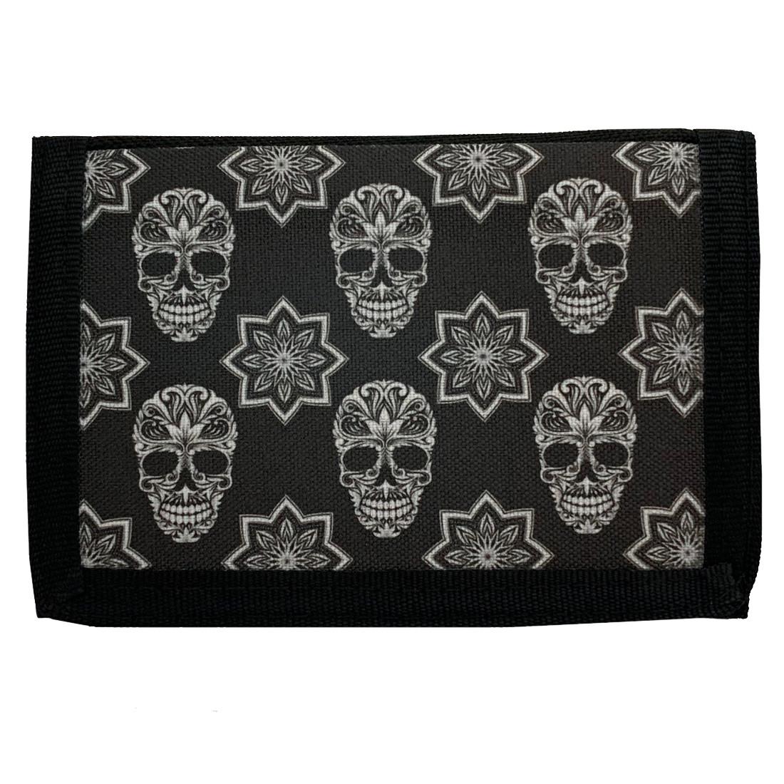Black and White Sugar Skull Men's Wallet