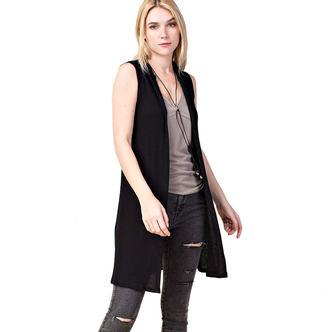 Vocal Apparel  Hoodie Vest  front view