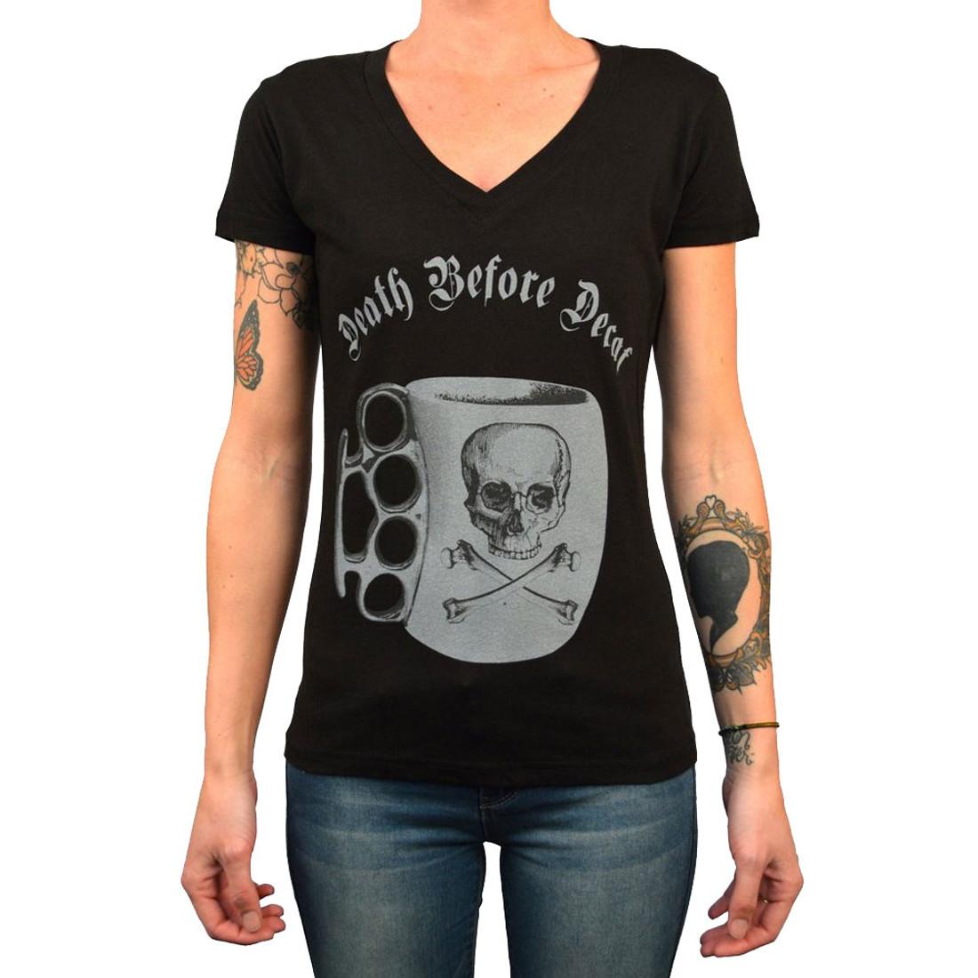 Ladies Death Before Decaf  Tee Shirt