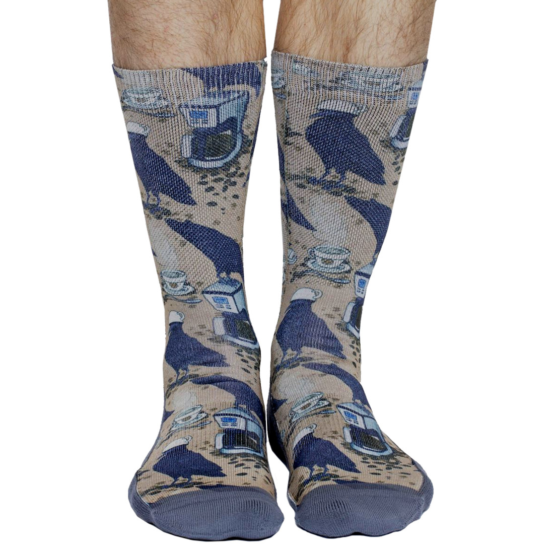 Coffee Raven Men's Crew Socks