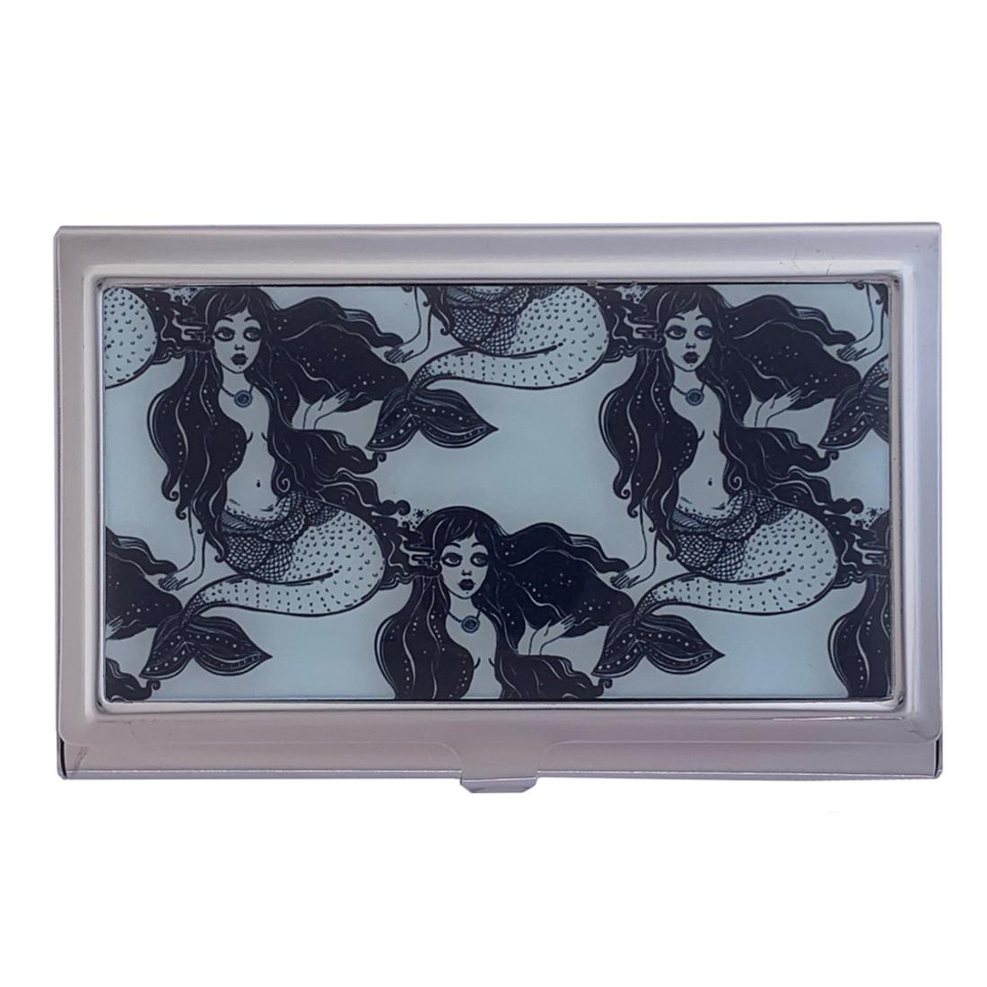 Nautical Mermaids ID Case Metal Wallet