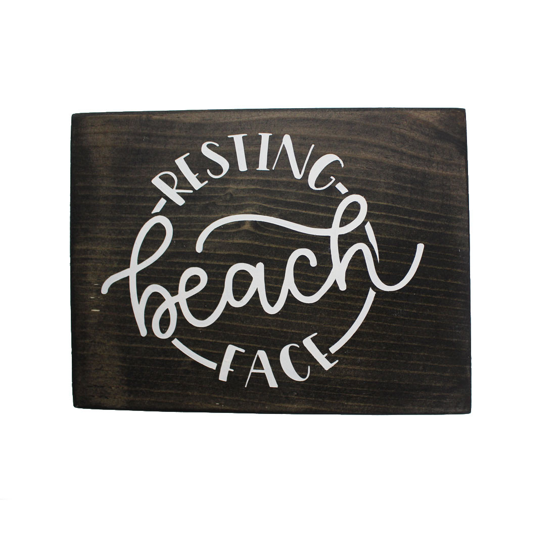 Resting Beach Face handmade in the USA wooden sign.