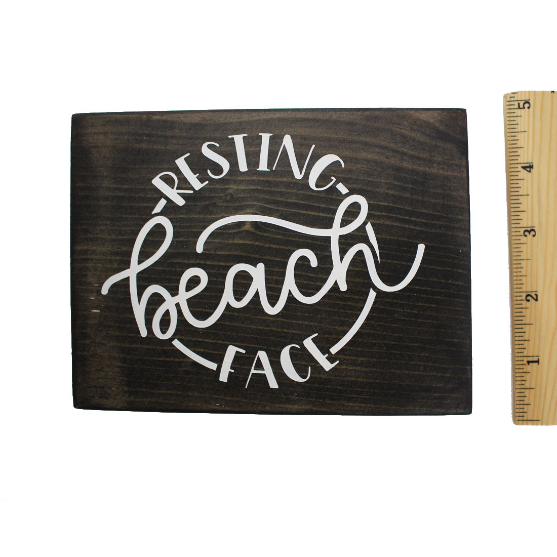 Resting Beach Face measured with a ruler.