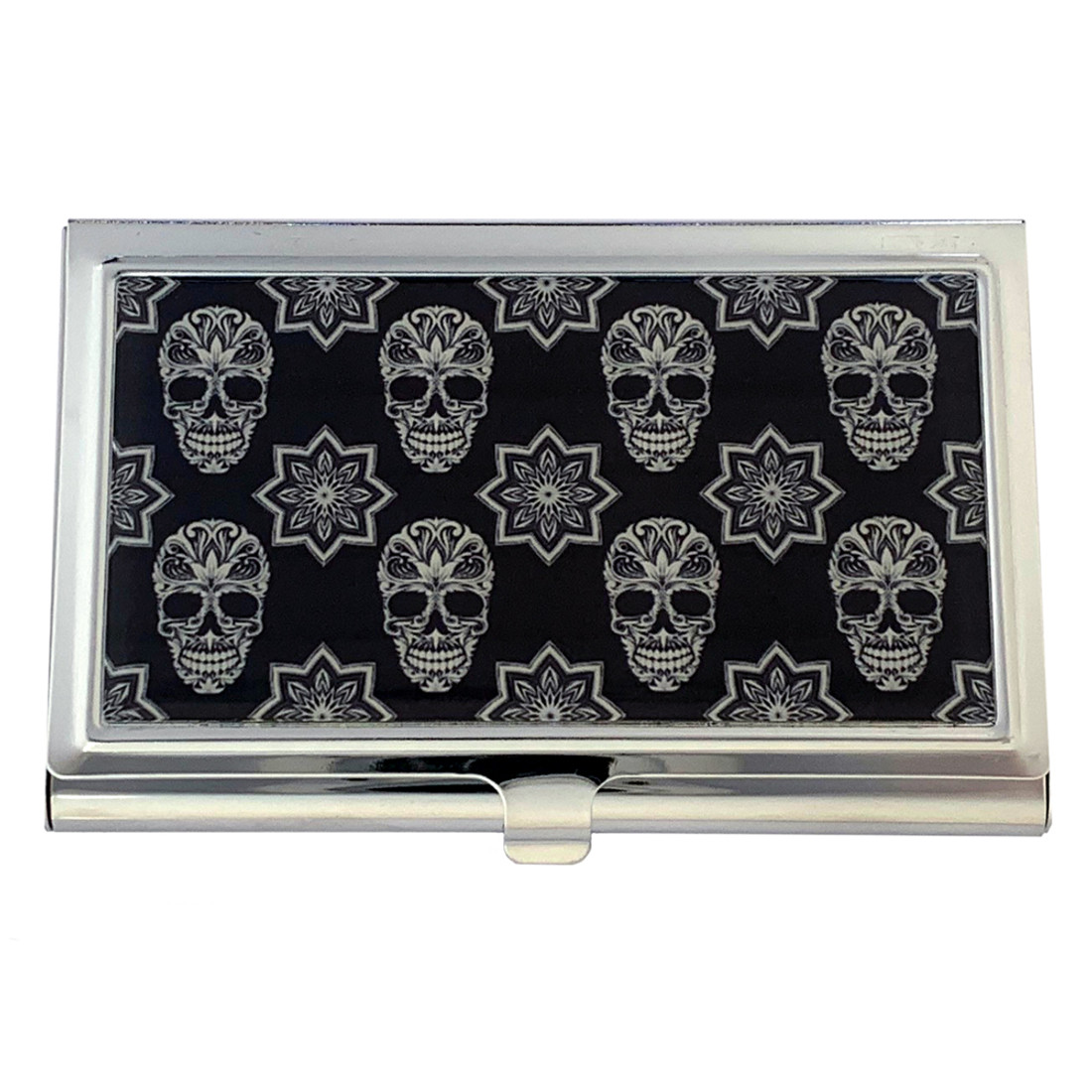 Black and White Sugar Skulls Business Card Case