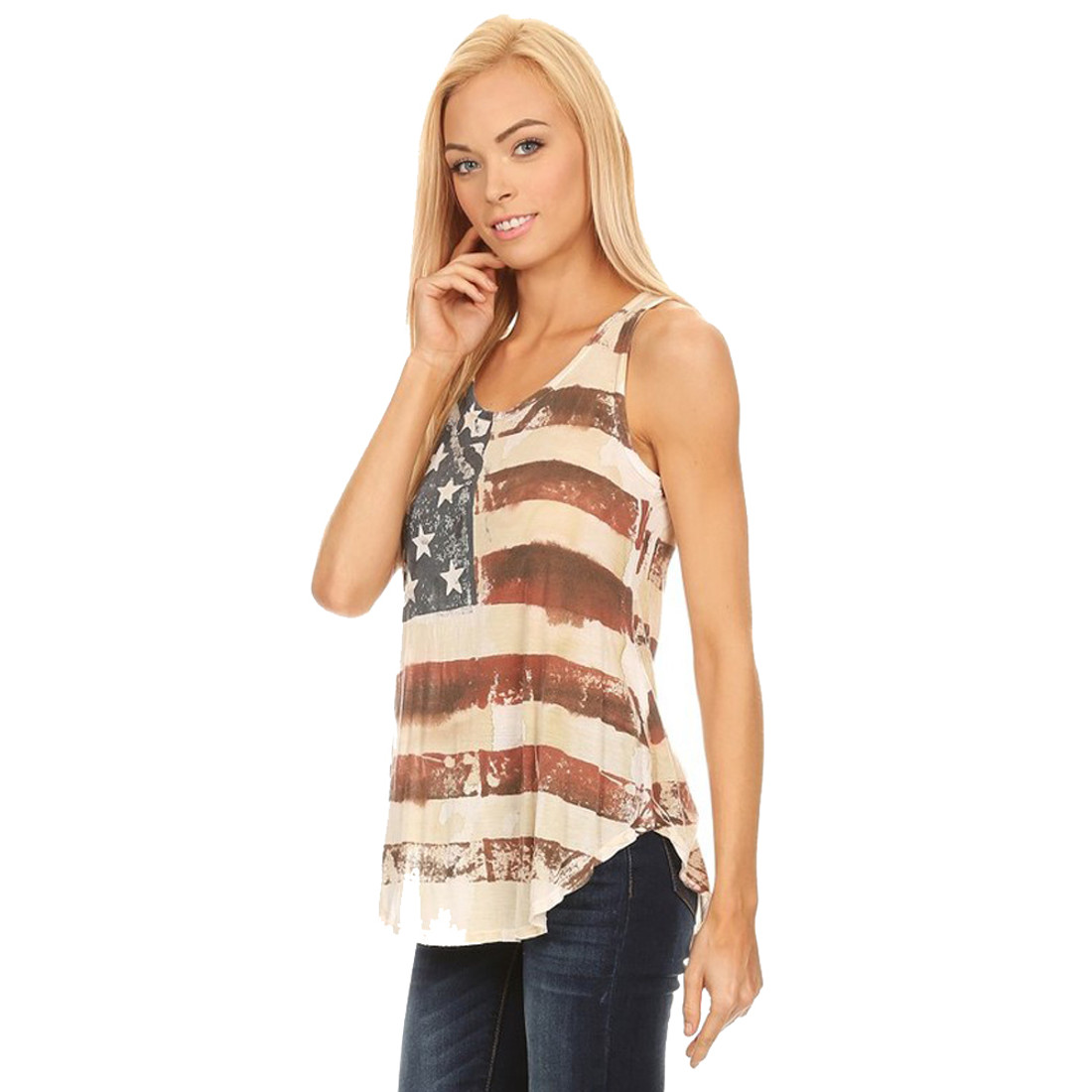 American Flag Tank Top front view