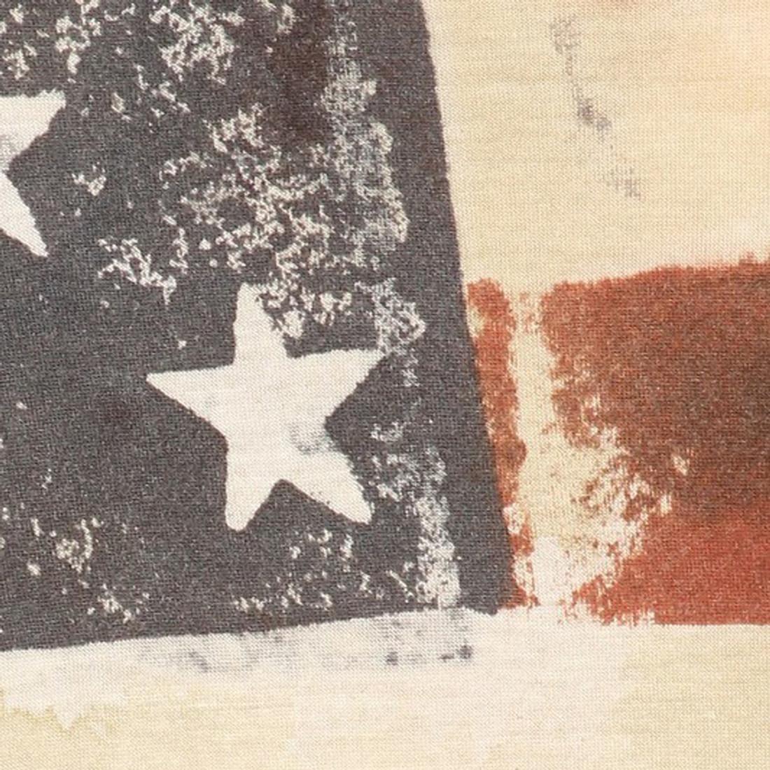 American Flag Tank Top fabric close up
