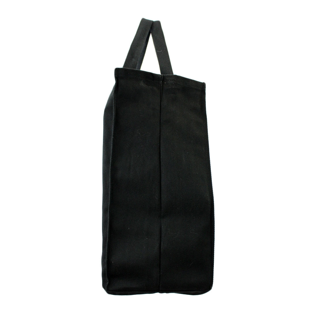 Side view of tote bag.