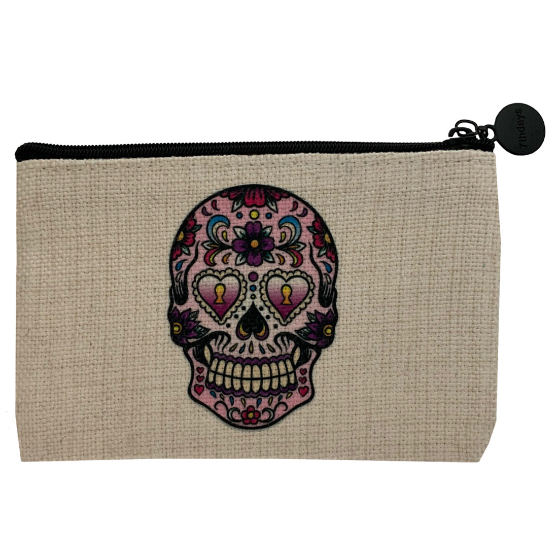 Heart Eyes Sugar Skull Coin Purse Pouch