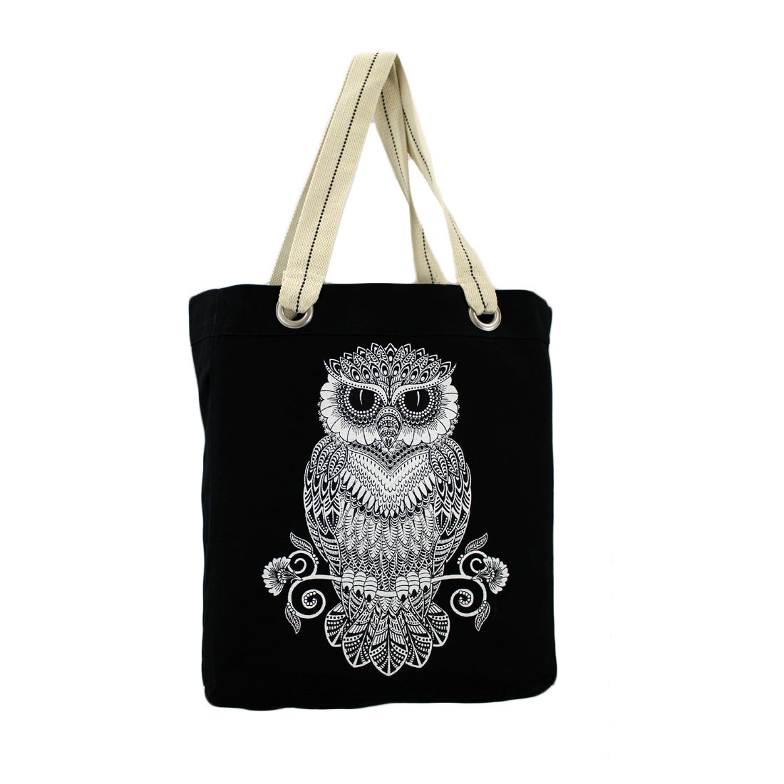 Owl tote bag.  Great to use as a beach bag.