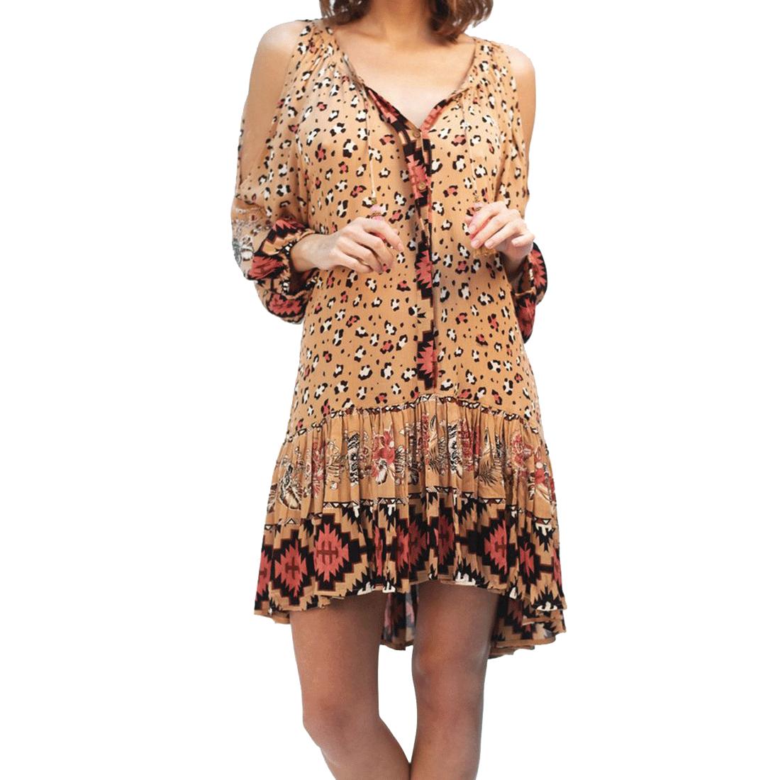 Women's Nala boho mini dress.