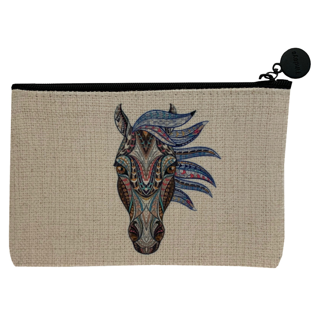 Tribal Horse Head Cosmetic Bag