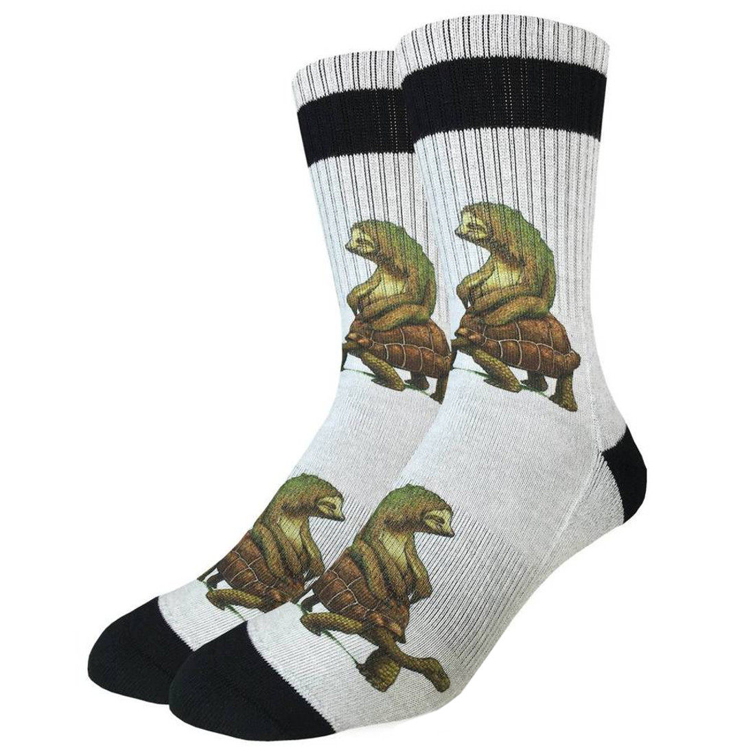 Tortoise and The Sloth Socks side view