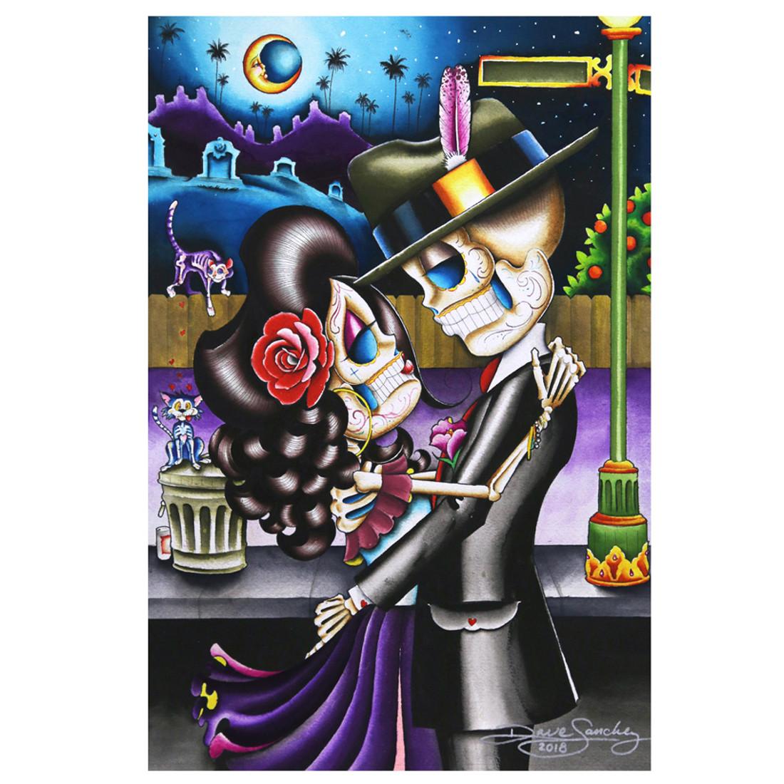 Gracias Mi Amor by Dave Sanchez Tattoo Art Print Day of the Dead Sugar Skull