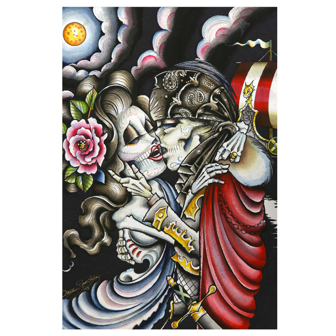 Dave Sanchez Married to the Sea Tattoo Art Print