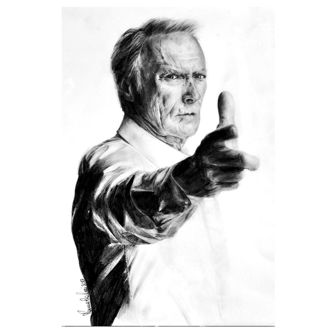 Manuela Lai Clint Eastwood Art Print