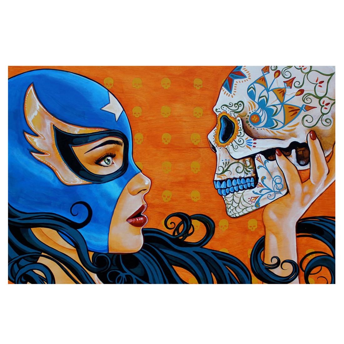 Mike Bell Mascara de la Muerte Art Print